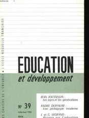 Education Et Developpement N°39 - Couverture - Format classique