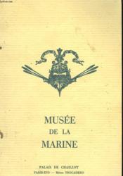 Musee De La Marine - Couverture - Format classique