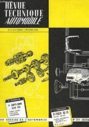 Revue Technique Automobile - N°224 - Couverture - Format classique