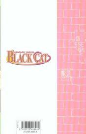 Black cat t.11 ; la promesse - 4ème de couverture - Format classique