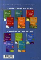 Toute la physique chimie en formulaire ; spécialement conçu pour mpsi - 4ème de couverture - Format classique