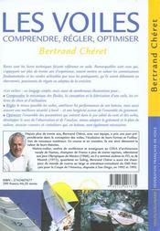 Les voiles ; comprendre, régler, optimiser - 4ème de couverture - Format classique