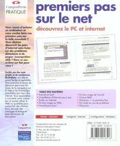 Premier Pas Sur Le Net - 4ème de couverture - Format classique