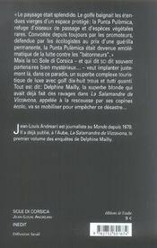 Sole di corsica - 4ème de couverture - Format classique