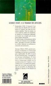 Tramway Des Officiers (Le) - 4ème de couverture - Format classique