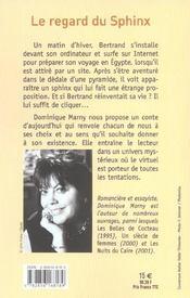Le Regard Du Sphinx - 4ème de couverture - Format classique