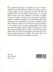 Graminees - 4ème de couverture - Format classique