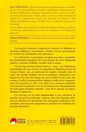 Indicateurs Economiques Et Marches Financiers - 4ème de couverture - Format classique