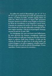 Le naufrage de santiago ; sur les bancs de la juive, bassas da india, 1585 - 4ème de couverture - Format classique