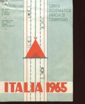 Italia 1965 - Carta Schematica Parchi Di Campeggio - Couverture - Format classique
