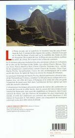 Guide du perou - 4ème de couverture - Format classique