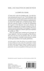 La porte du soleil - 4ème de couverture - Format classique