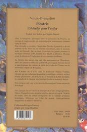 Picatrix ; l'echelle pour l'enfer - 4ème de couverture - Format classique