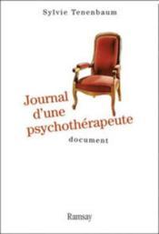 Journal d'une psychothérapeute - Couverture - Format classique