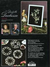 La dentelle duchesse ; initiation - 4ème de couverture - Format classique