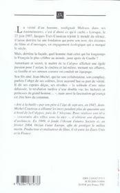 Mon Pere Le Commandant - 4ème de couverture - Format classique