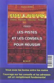 Essai Et Audition Tome 1 - 4ème de couverture - Format classique