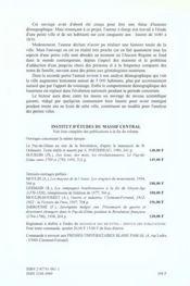 Issoire, 1680-1830. Une Petite Ville, Des Hommes Et Des Femmes - 4ème de couverture - Format classique