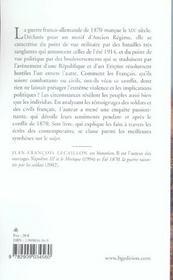 Les français et la guerre de 1870 - 4ème de couverture - Format classique