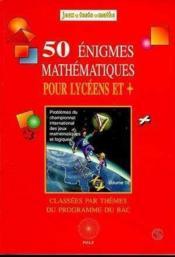 50 Enigmes Lycee - Couverture - Format classique