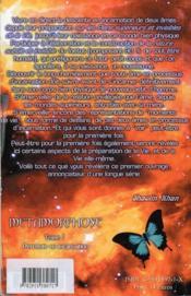 Série métamorphose t.1 ; descente en incarnation - 4ème de couverture - Format classique