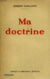 Ma Doctrine. - Couverture - Format classique