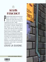 Louis Ferchot t.1 ; l'usine - 4ème de couverture - Format classique