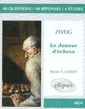 Zweig le joueur d'echecs - Intérieur - Format classique