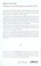 Gregory, Le Petit Prince Au Destin Brise - 4ème de couverture - Format classique