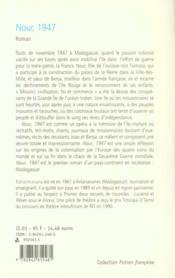 Nour 1947 - 4ème de couverture - Format classique