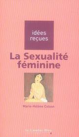 La sexualité féminine - Intérieur - Format classique