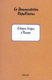 Citoyens laïques d'europe - Intérieur - Format classique