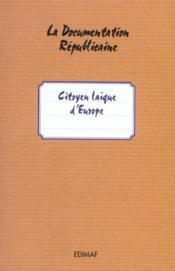 Citoyens laïques d'europe - Couverture - Format classique