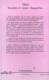 Cuba Nouvelles Et Contes D'Aujourd'Hui - 4ème de couverture - Format classique