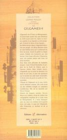L'Histoire De Gilgamesh - 4ème de couverture - Format classique