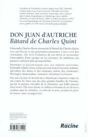 Don Juan d'Autriche ; bâtard de Charles Quint - 4ème de couverture - Format classique