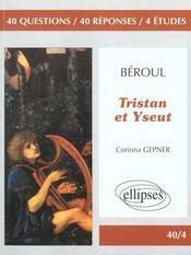 Beroul Tristan Et Yseut - Intérieur - Format classique