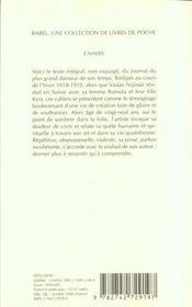 Cahiers - 4ème de couverture - Format classique