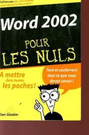 Word pour les nuls (édition 2002) - Couverture - Format classique
