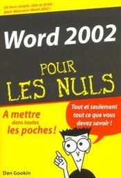 Word pour les nuls (édition 2002) - Intérieur - Format classique
