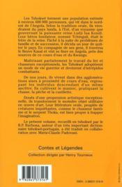 Contes tshokwe d'Angola - 4ème de couverture - Format classique