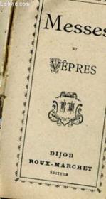 Messes Et Vepres - Couverture - Format classique