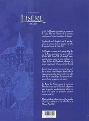 L'Histoire De L'Isere En Bd - Tome 03 - 4ème de couverture - Format classique