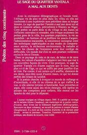 Le Sage Du Quartier Yantala A Mal Aux Dents - 4ème de couverture - Format classique