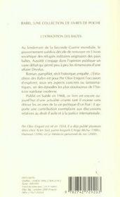 L'Extradition Des Baltes - 4ème de couverture - Format classique