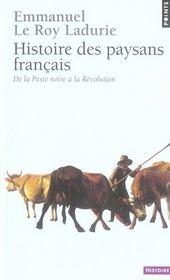 Histoire des paysans français ; de la peste noire à la révolution - Intérieur - Format classique