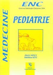 Pédiatrie ; épreuves nationales classantes - Intérieur - Format classique
