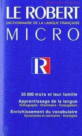 Le Robert micro ; dictionnaire de la langue française - Intérieur - Format classique