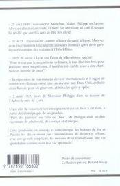 Vie Et Paroles Du Maitre Philippe - 4ème de couverture - Format classique