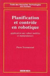 Planification et controle en robotique - Couverture - Format classique
